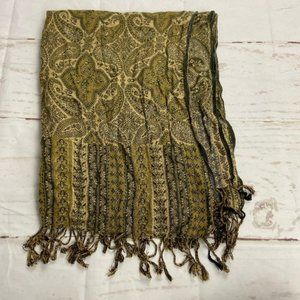 Pashmina by Ashley Cooper Tan Brown Golden Scarf